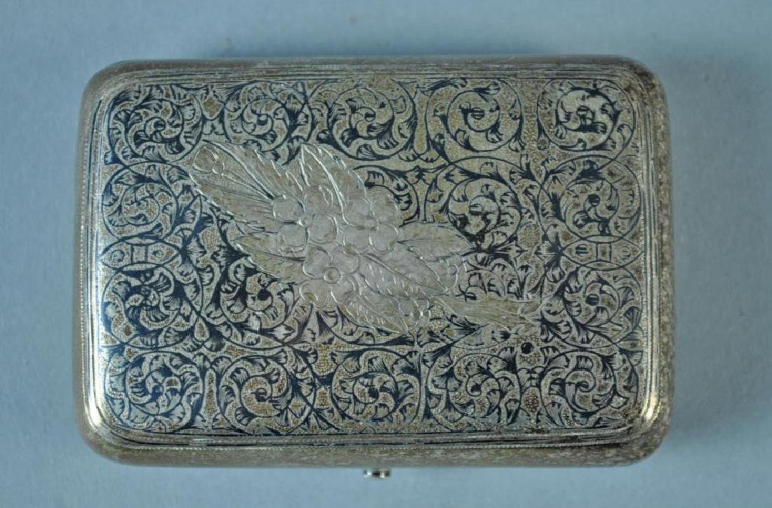 (2) RUSSIAN NIELLO SILVER CASES - 2