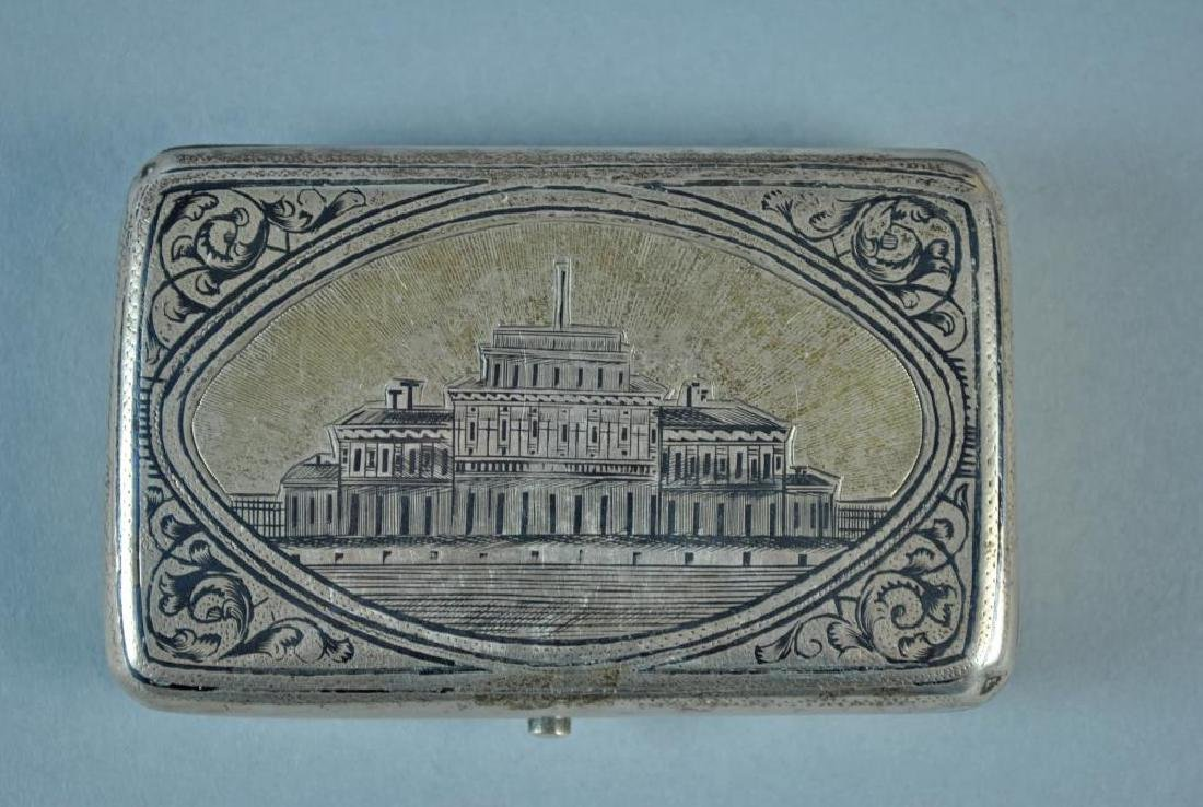 (2) RUSSIAN NIELLO SILVER CASES - 3