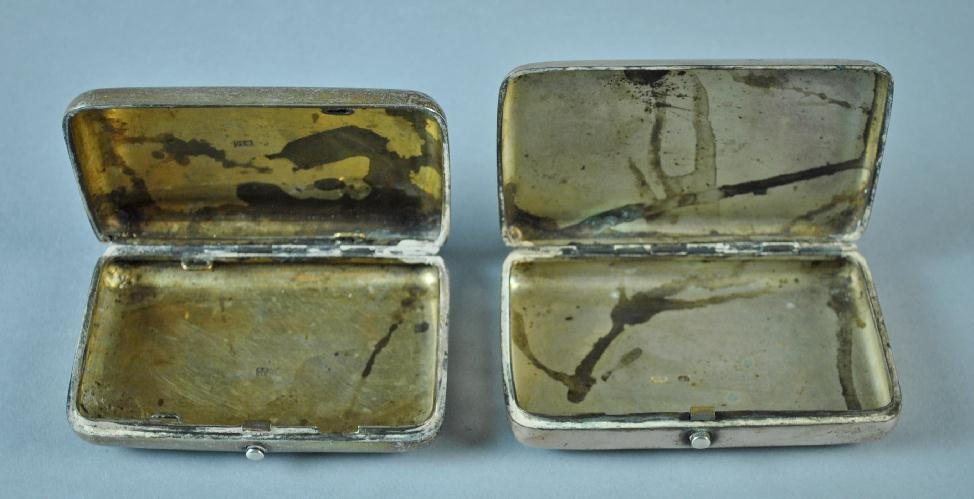 (2) RUSSIAN NIELLO SILVER CASES - 5