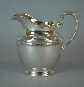 GORHAM STERLING FOOTED WATER PITCHER