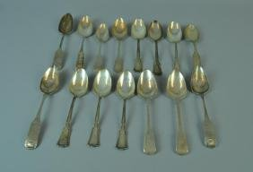 (15) LARGE SILVER SERVING SPOONS