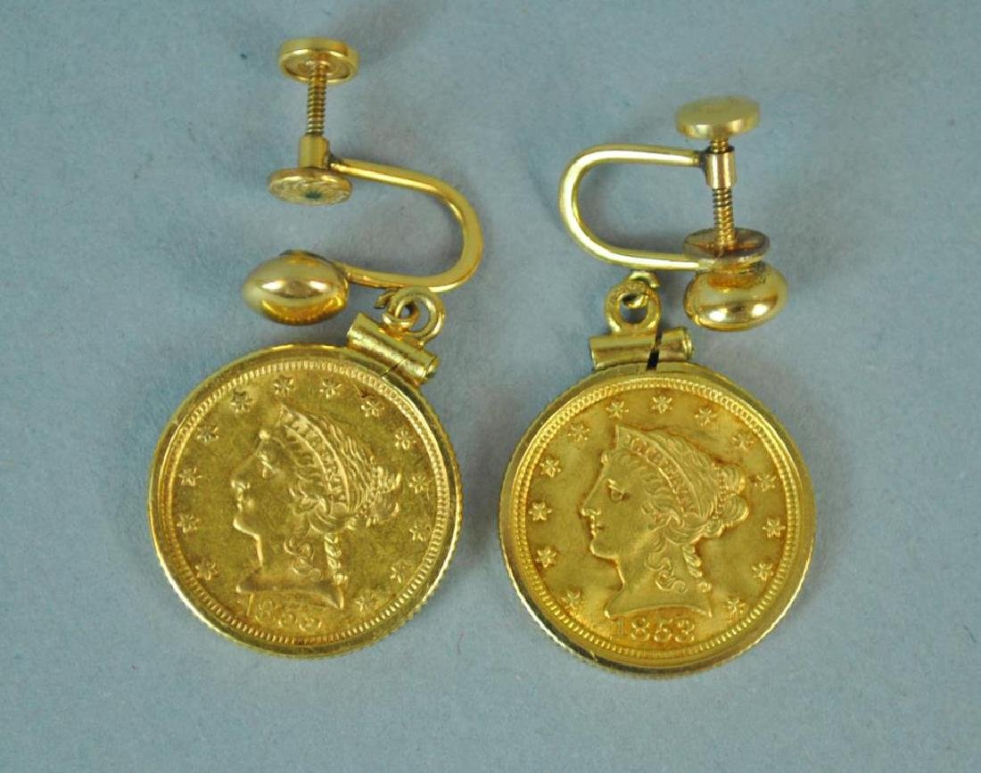 (2) $2 1/2 US CORONET HEAD GOLD COINS