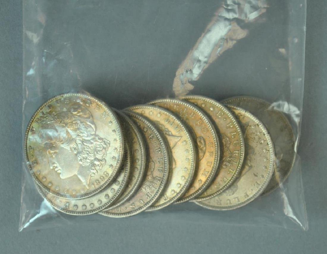 (9) MORGAN US SILVER DOLLAR COINS