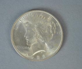 (8) PEACE US SILVER DOLLAR COINS
