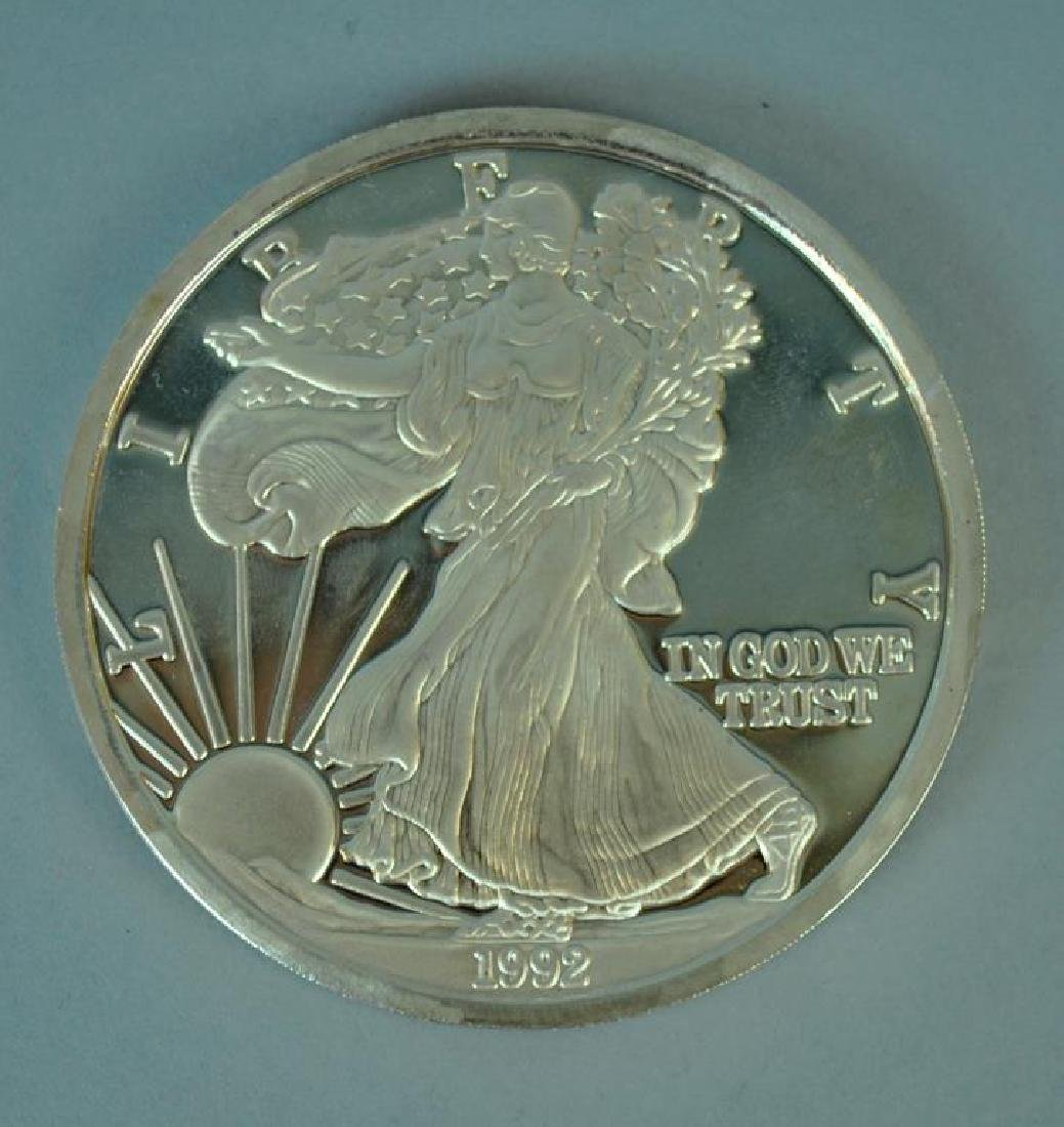 ONE TROY POUND SILVER 1992 AMERICAN EAGLE PROOF