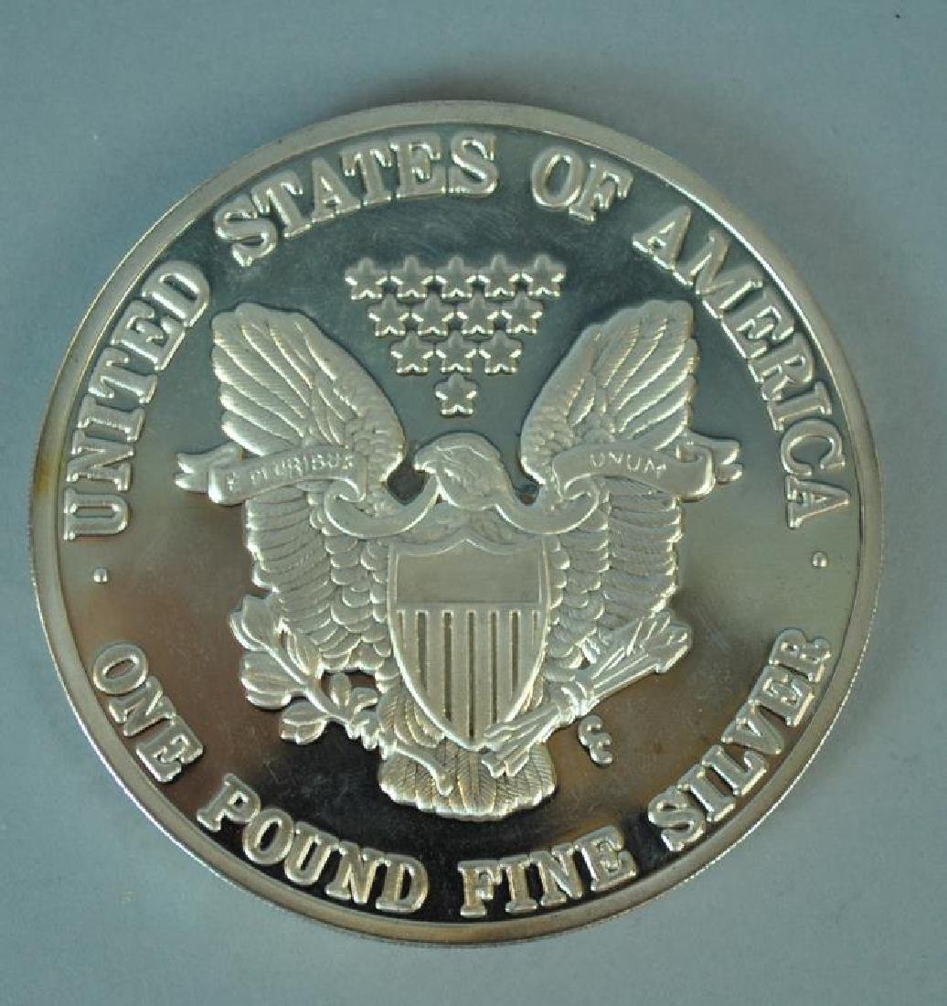 ONE TROY POUND SILVER 1992 AMERICAN EAGLE PROOF - 2