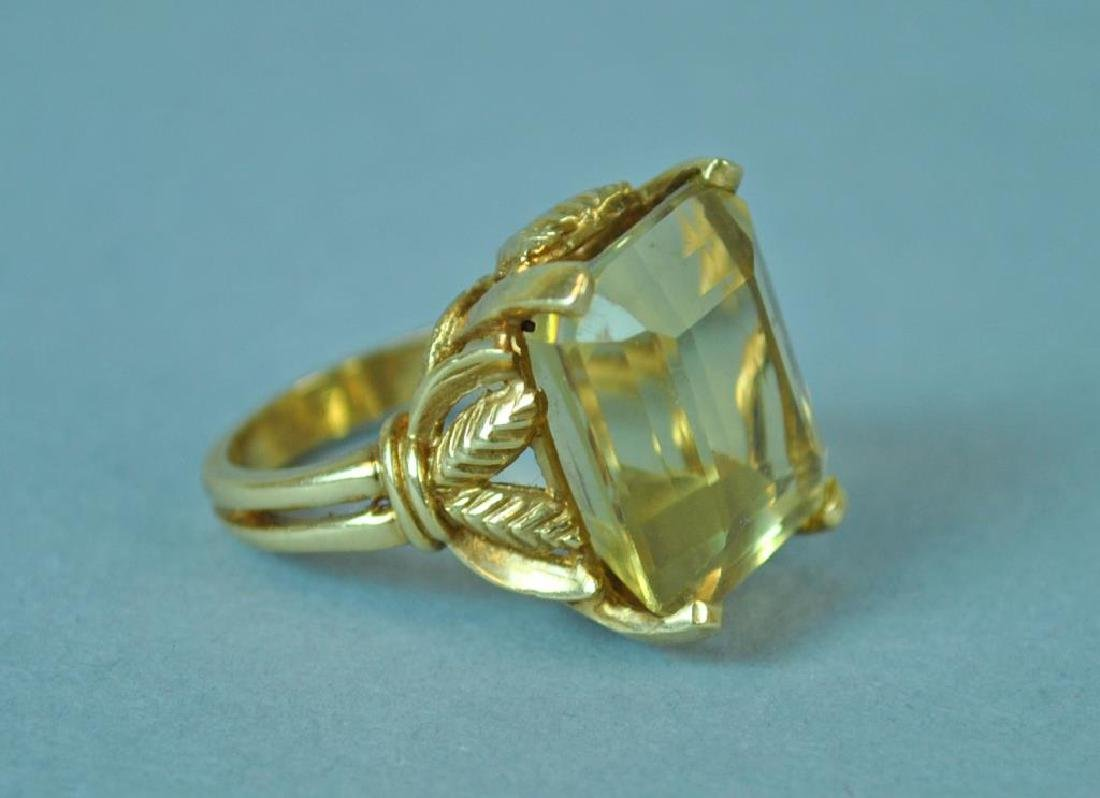 GOLD & YELLOW STONE RING