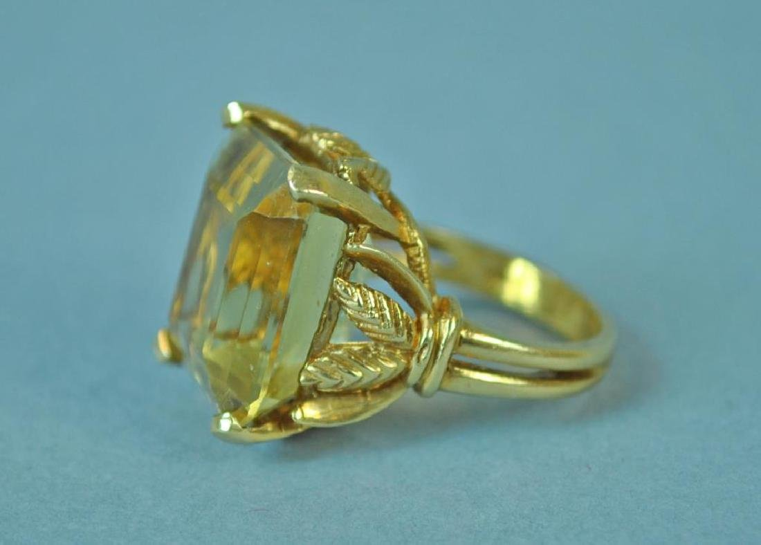 GOLD & YELLOW STONE RING - 2