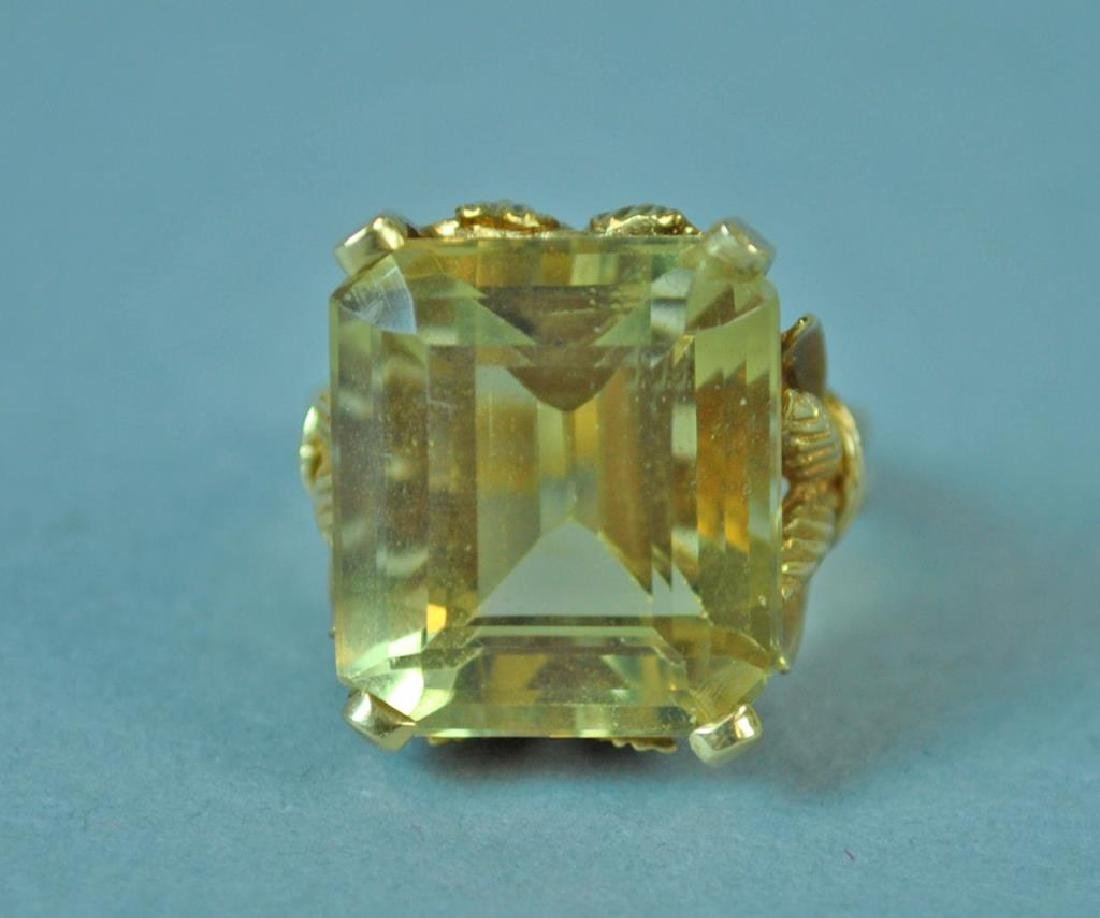 GOLD & YELLOW STONE RING - 3