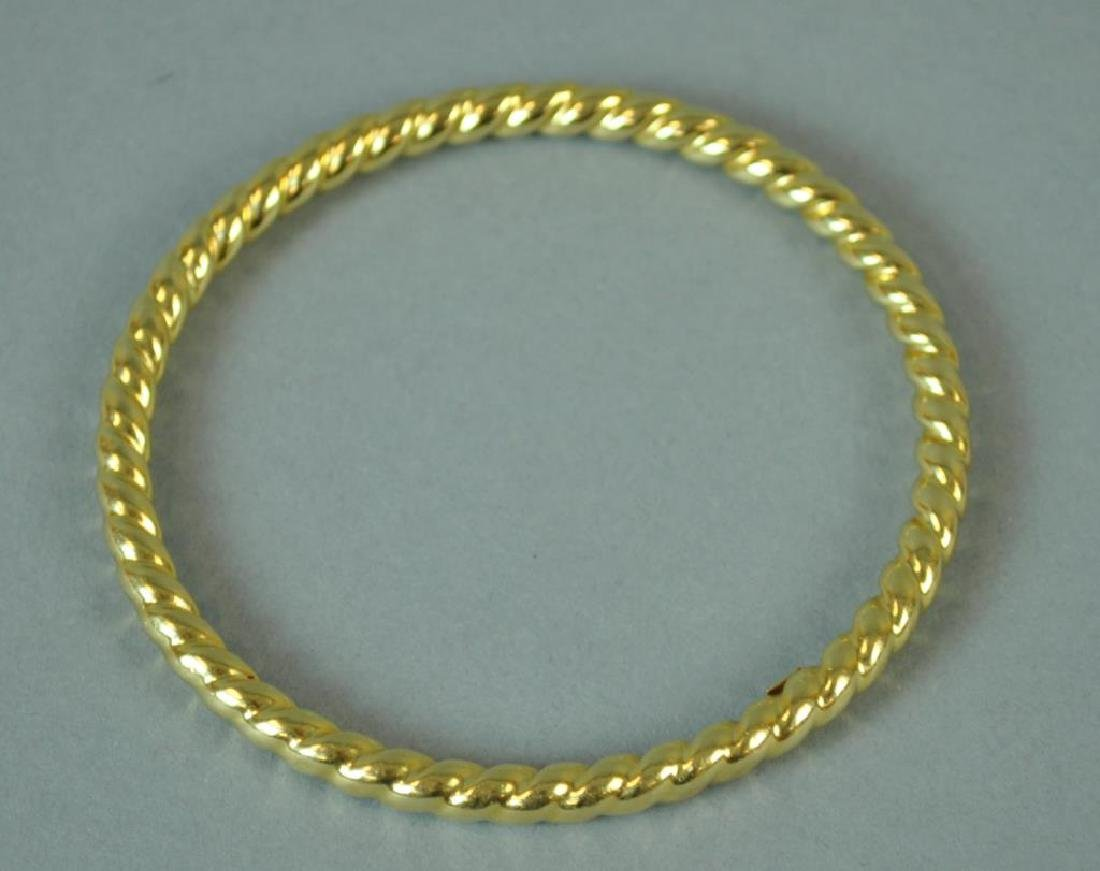 GOLD TWIST BANGLE BRACELET