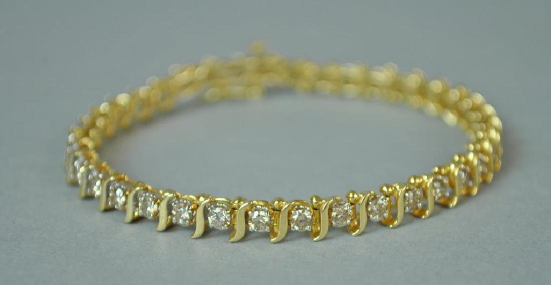 DIAMOND S-LINK TENNIS BRACELET, 3.00CTW