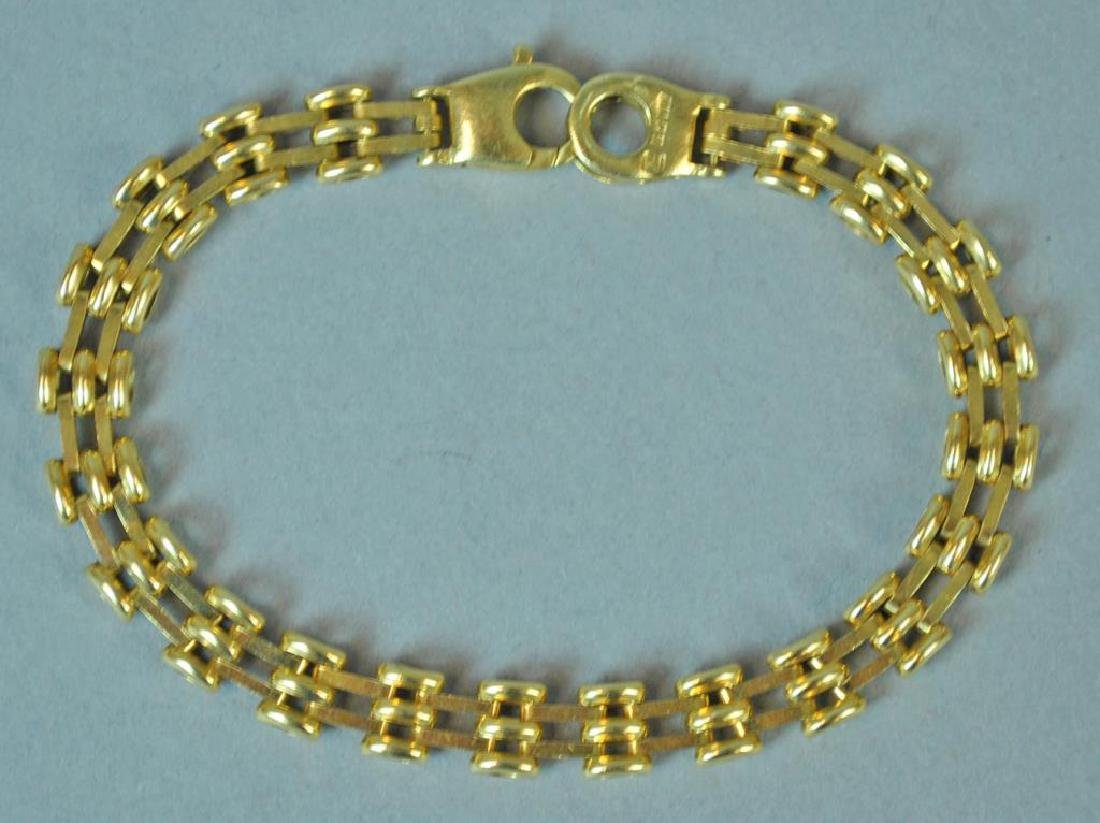 GOLD FANCY LINK BRACELET