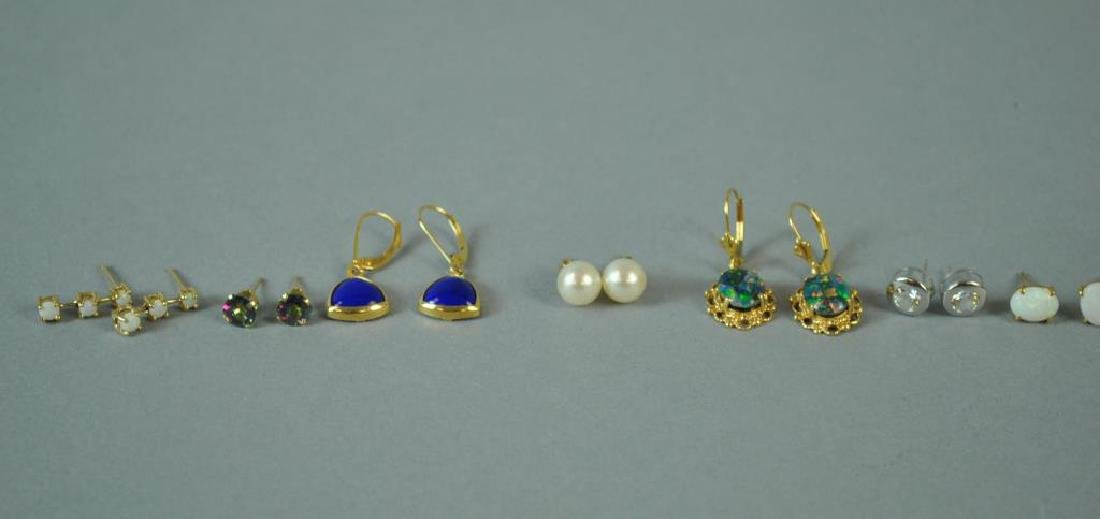 (9) PAIRS GOLD EARRINGS - 3