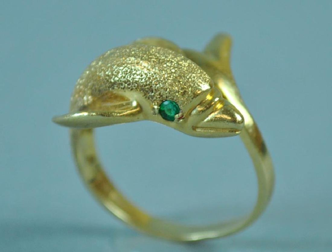 GOLD DOLPHIN RING