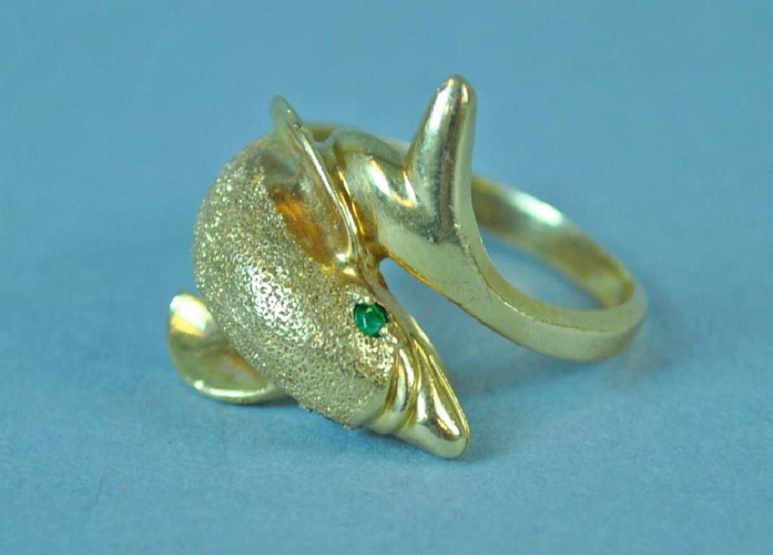 GOLD DOLPHIN RING - 2