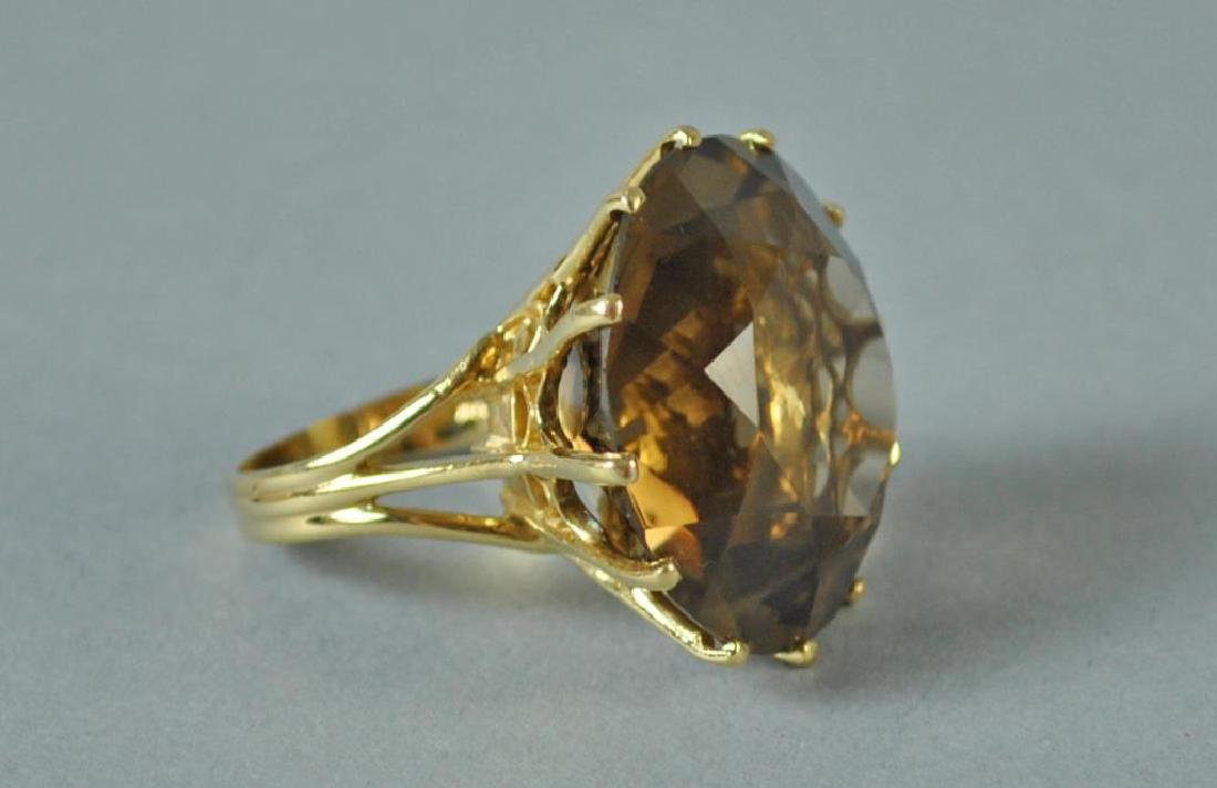 GOLD & BROWN STONE DINNER RING