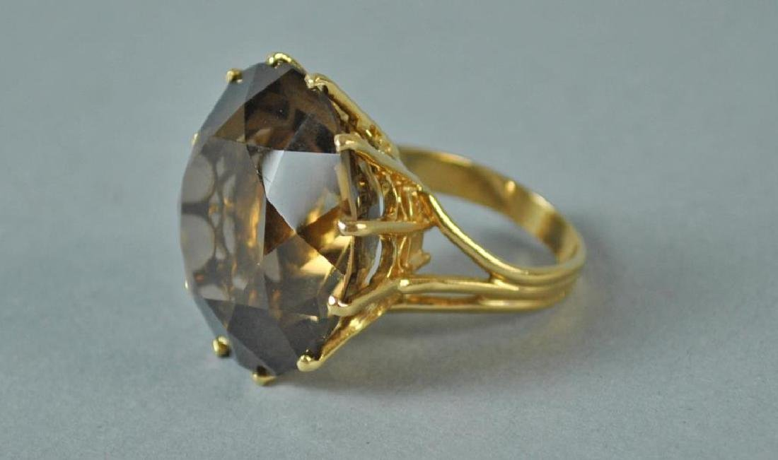 GOLD & BROWN STONE DINNER RING - 2