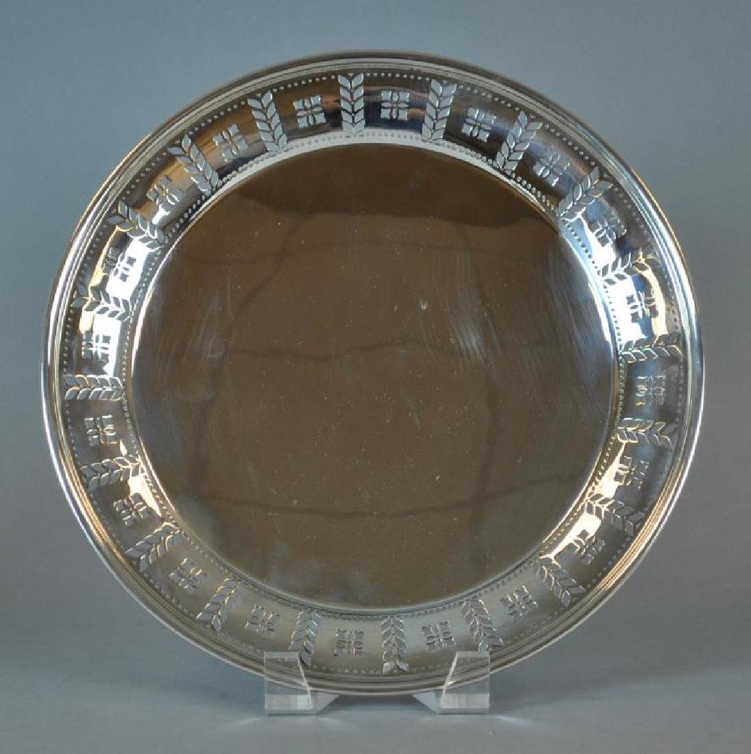 TIFFANY & CO. STERLING PIERCED SALVER