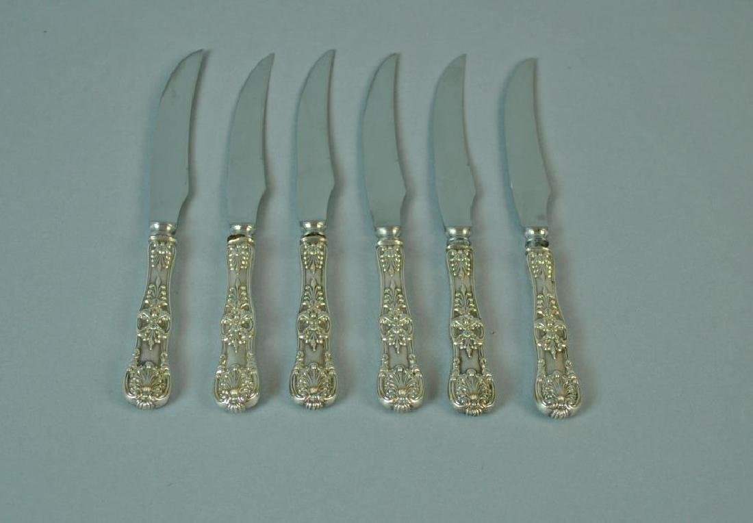 (6) TIFFANY & CO. ENGLISH KING STERLING KNIVES