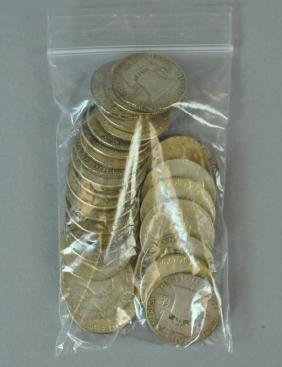 (28) FRANKLIN SILVER HALF-DOLLAR COINS