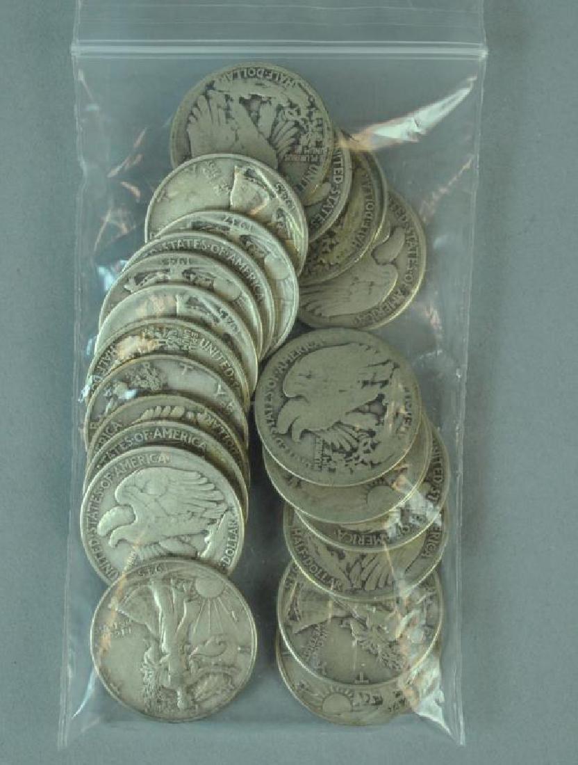 (24) WALKING LIBERTY SILVER HALF-DOLLAR COINS