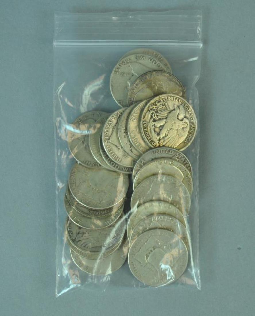 (23) US SILVER HALF-DOLLAR COINS