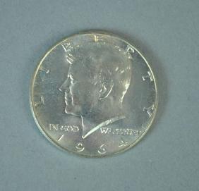 (20) 1964 KENNEDY HALF-DOLLAR SILVER COINS