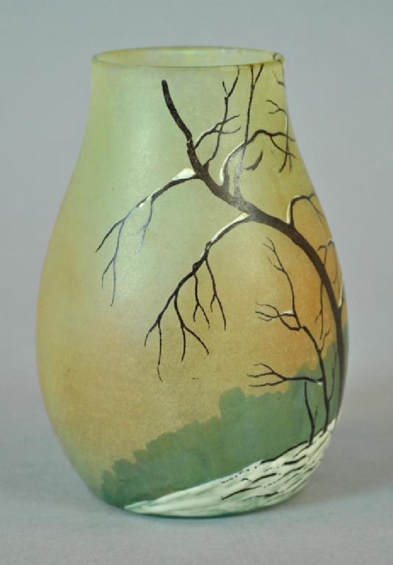 LEGRAS CAMEO GLASS VASE - 2