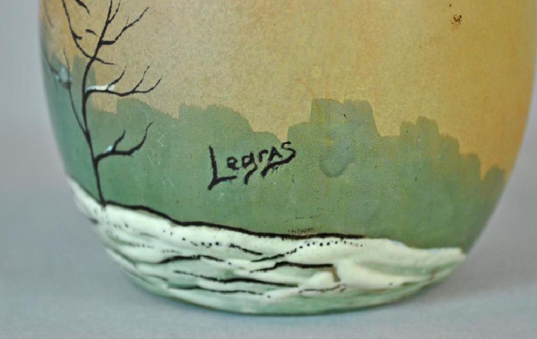 LEGRAS CAMEO GLASS VASE - 3