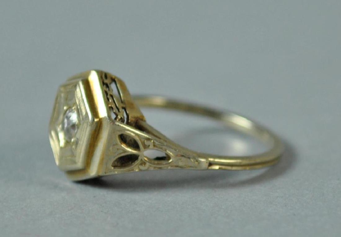 ART DECO DIAMOND RING, 0.10CT - 2