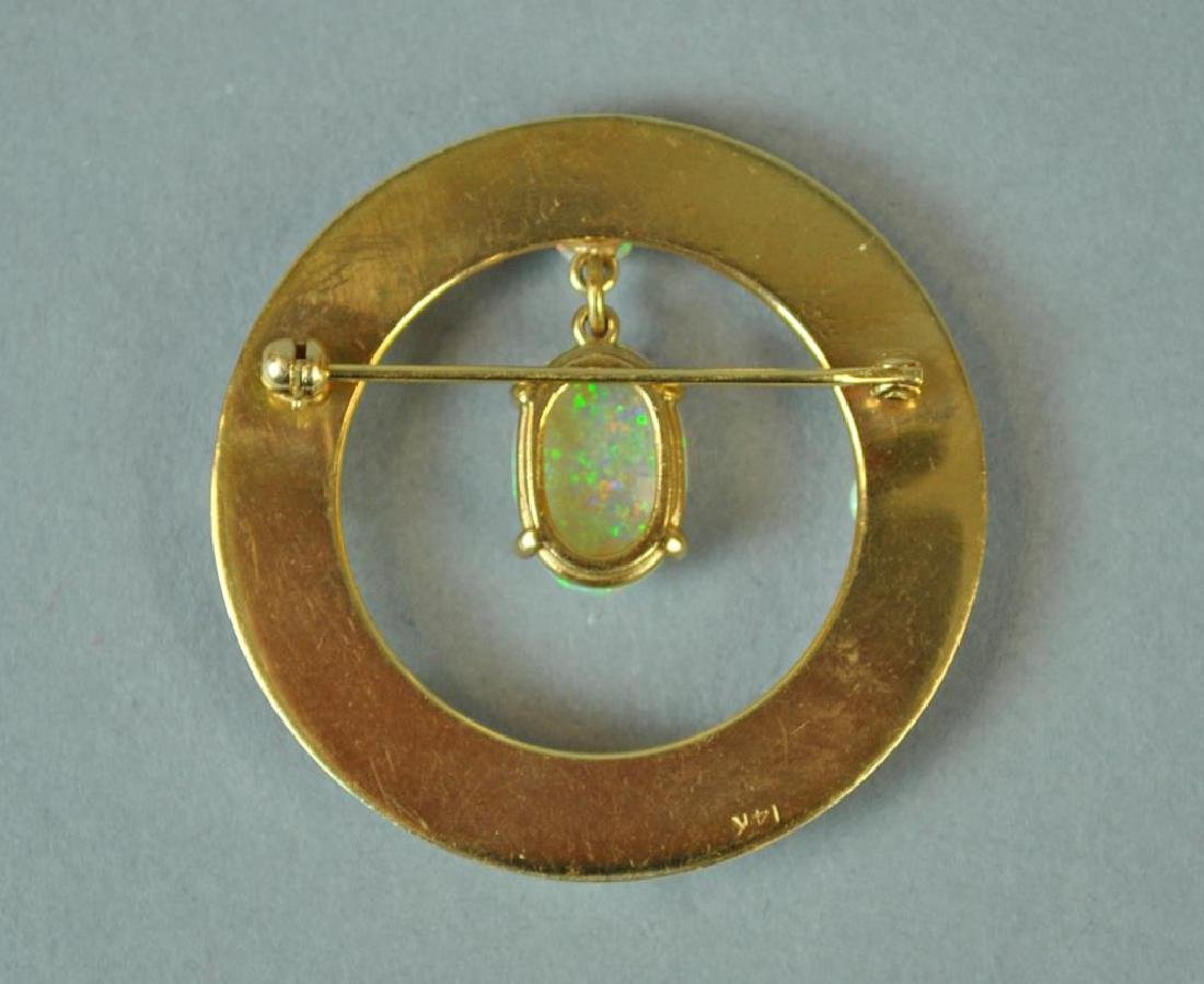 GOLD & OPAL CIRCULAR PIN - 2