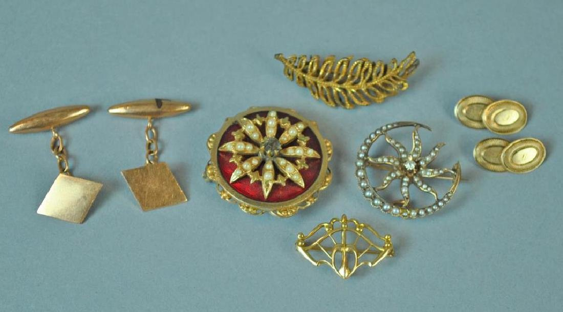 (6) PIECE GOLD & COSTUME JEWELRY GROUP