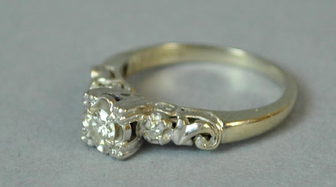 DIAMOND ENGAGEMENT RING, 0.20CT - 2