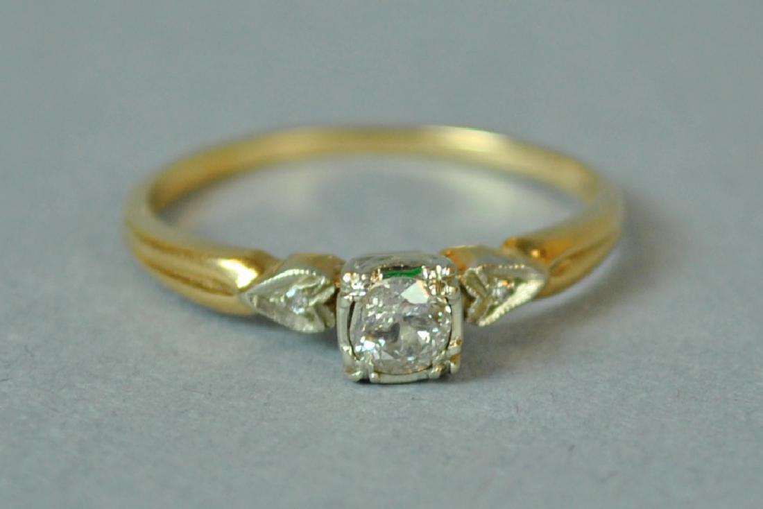 DIAMOND ENGAGEMENT RING, 0.25CT - 2