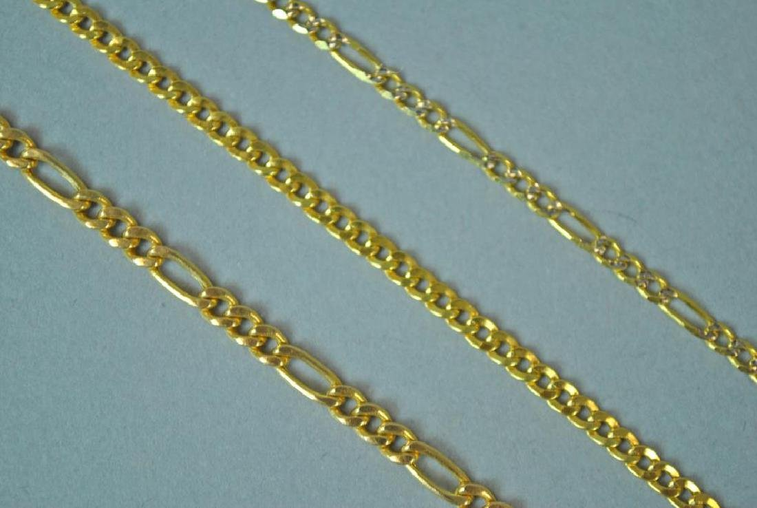 (3) GOLD LINK BRACELETS