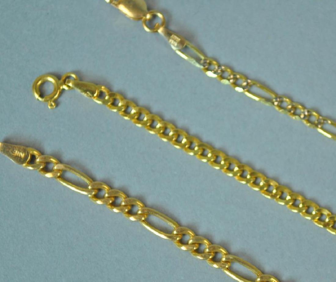 (3) GOLD LINK BRACELETS - 2