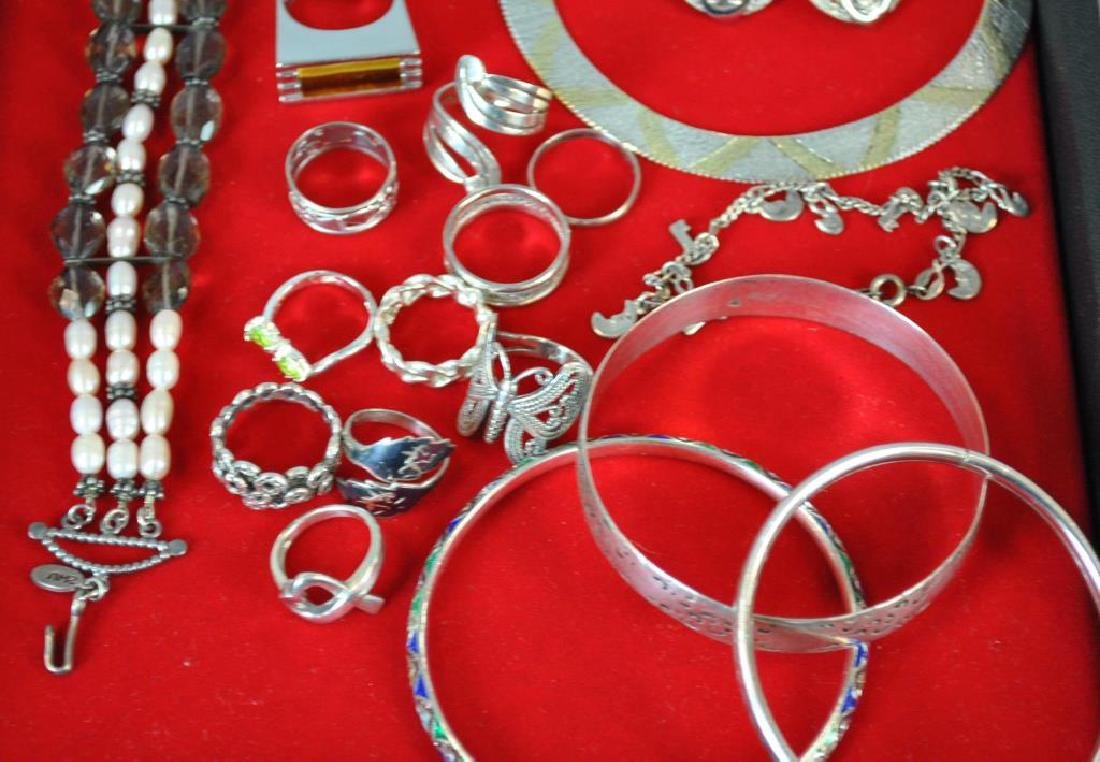 (32) PIECE STERLING JEWELRY GROUP - 5