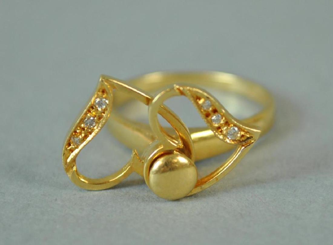 GOLD & DIAMOND SPINNING RING - 2