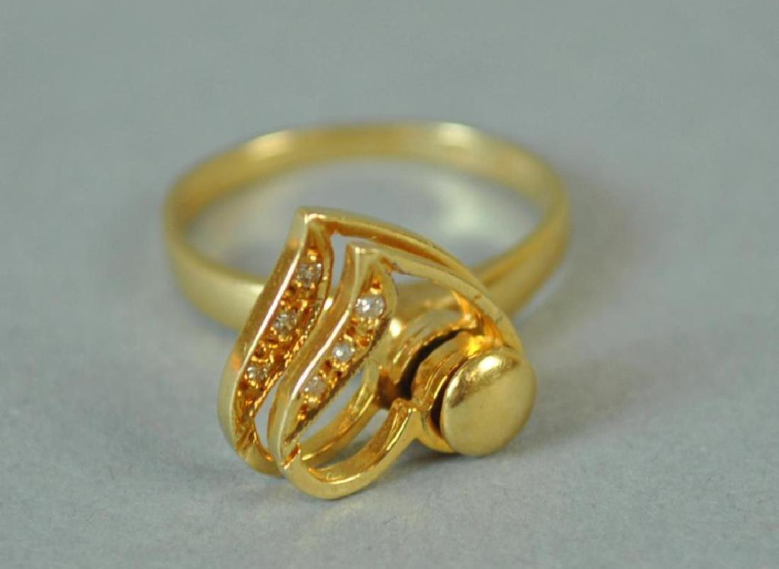 GOLD & DIAMOND SPINNING RING - 3