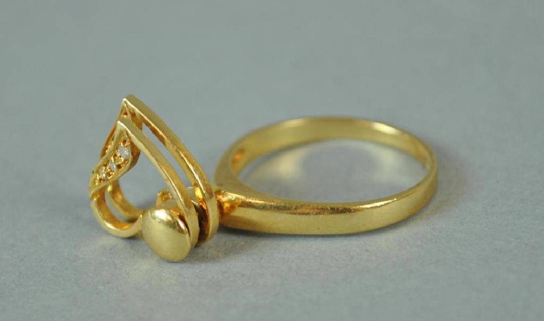 GOLD & DIAMOND SPINNING RING - 4