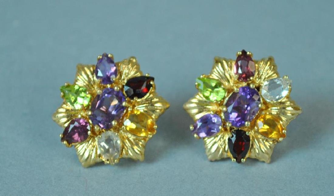 GOLD & GEMSTONE EARRINGS