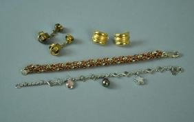 (4) PIECE SILVER & GOLD JEWELRY GROUP