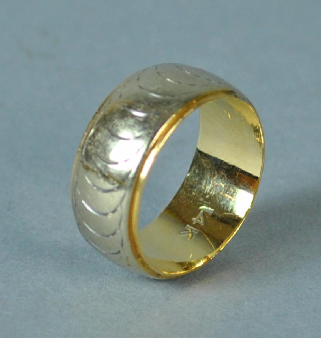 LADIES WIDE GOLD WEDDING BAND