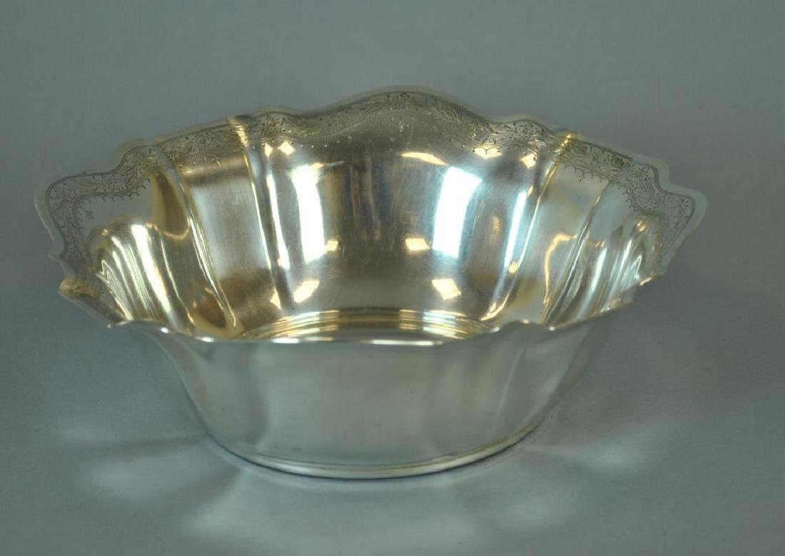 GORHAM STERLING FLUTED SERVING BOWL