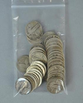 (43) STANDING LIBERTY SILVER QUARTER-DOLLAR COINS