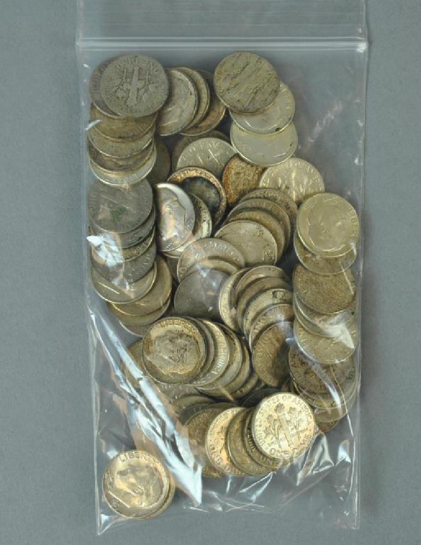 (80+) ROOSEVELT TEN CENT SILVER COINS
