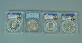 GROUP OF 4 PCGS GRADED US SILVER COINS