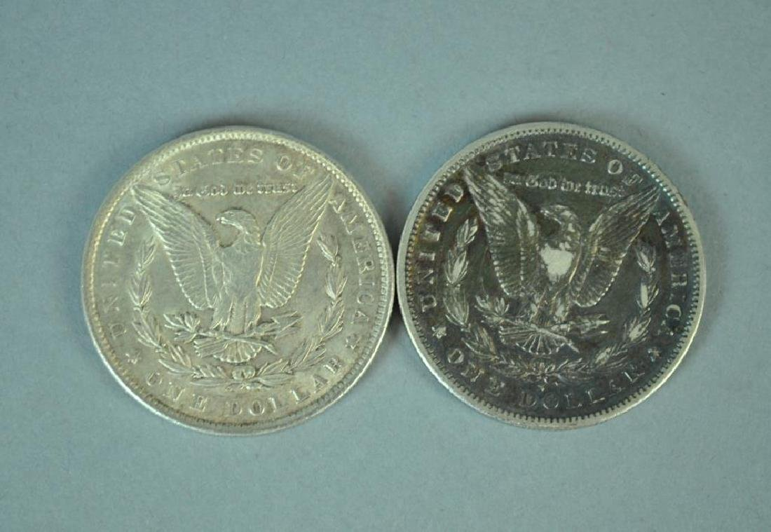 (2) MORGAN US SILVER DOLLAR COINS - 2
