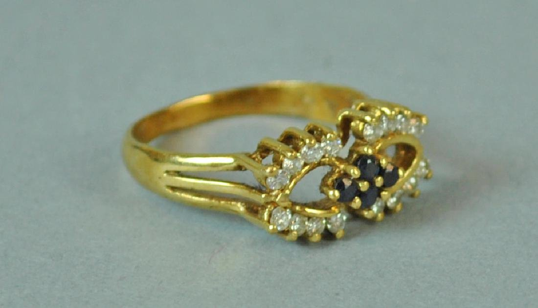 DIAMOND & SAPPHIRE RING - 2