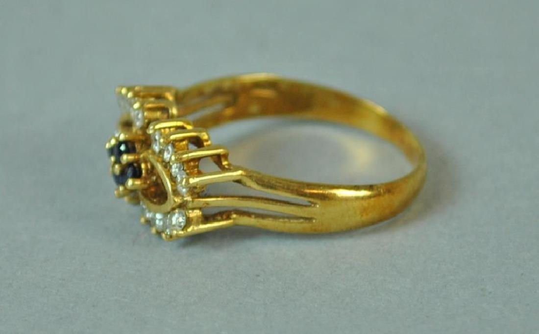 DIAMOND & SAPPHIRE RING - 3